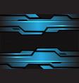 abstract blue metallic futuristic with dark circle vector image