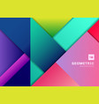 abstract colorful geometric shape overlapping 3d vector image vector image