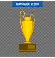 Abstract creative trophy cup Isolated mockup on vector image vector image