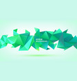 abstract geometric 3d shape triangular vector image