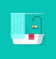 bathroom empty flat cartoon vector image