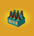 beer packaging vector image
