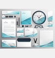 big set of professional brand identity business vector image