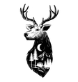 black Deer head vector image