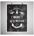 chistmas card with dark background and typographic vector image vector image