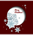 Christmas greeting card with snowflakes and