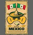 cinco de mayo mexican holiday sketch poster vector image vector image