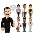 create businessman characters part 2 vector image vector image