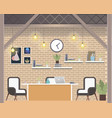 creative coworking workspace company cozy office vector image vector image
