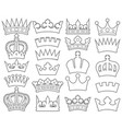 crown thin line collection vector image vector image