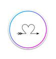 cupid arrow heart valentines day cards icon vector image vector image