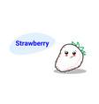cute strawberry cartoon comic character vector image