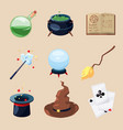 different symbols of wizards and magicians vector image