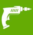drill icon green vector image vector image