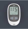 electronic device that shows sugar level in blood vector image vector image