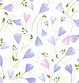 elegance seamless texture with crocuses vector image vector image