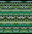 ethnic mexican tribal green stripes seamless vector image vector image