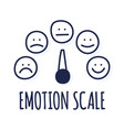 feedback or rating scale with smiles representing vector image