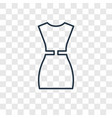 female dress concept linear icon isolated on vector image