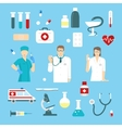 Flat Medicine Elements Set vector image vector image