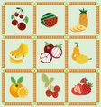 fruit icons - vector image vector image