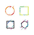 geometric banner shape vector image vector image