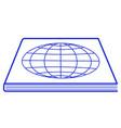 globe atlas icon vector image
