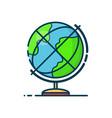 globe earth sphere modern line vector image