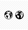 globe icon earth travel website homepage vector image