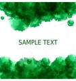 Green freshness background Abstract watercolor vector image vector image