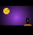 halloween coffin graveyard pumpkin moon bat vector image vector image