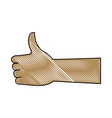 hand with thumb up like ok gesture icon vector image vector image