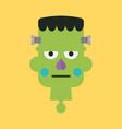 head of green zombie vector image vector image
