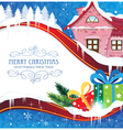House and Christmas gifts vector image vector image