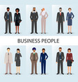 international business team set of couples office vector image vector image