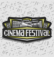 logo for cinema festival vector image vector image