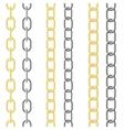 metallic chain vector image vector image