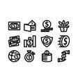 money template icon set vector image vector image