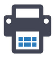 printer office supplies stationary icon vector image vector image