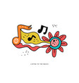 rock n roll doodle color vector image