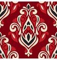 royal red damask flourish pattern vector image vector image