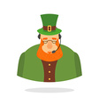 Saint Patrick call center leprechaun and headset vector image vector image