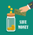 save money set icons vector image