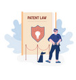 security man wearing sunglasses and guardian vector image