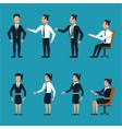 set of business people cartoon vector image