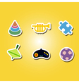 set of color icons with toys vector image vector image