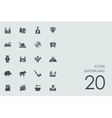Set of Switzerland icons vector image vector image