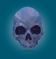 Skull low poly crystal vector image