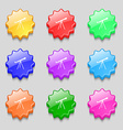 Telescope icon sign symbol on nine wavy colourful vector image vector image