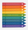 template infographic horizontal colorful arrows vector image